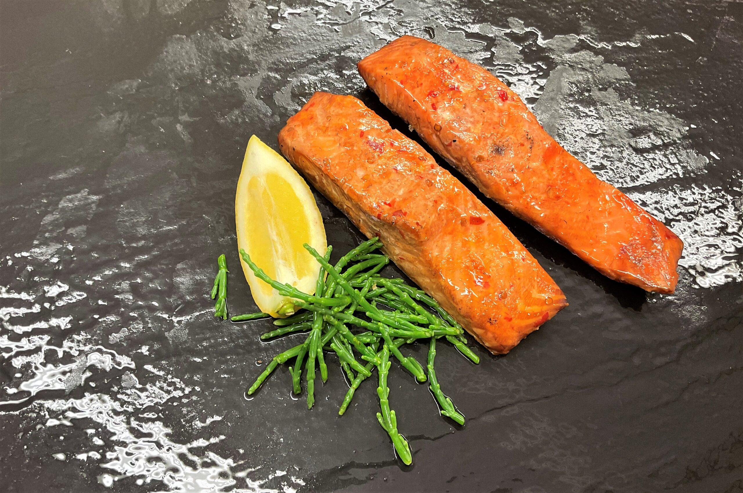 Chili smoked salmon